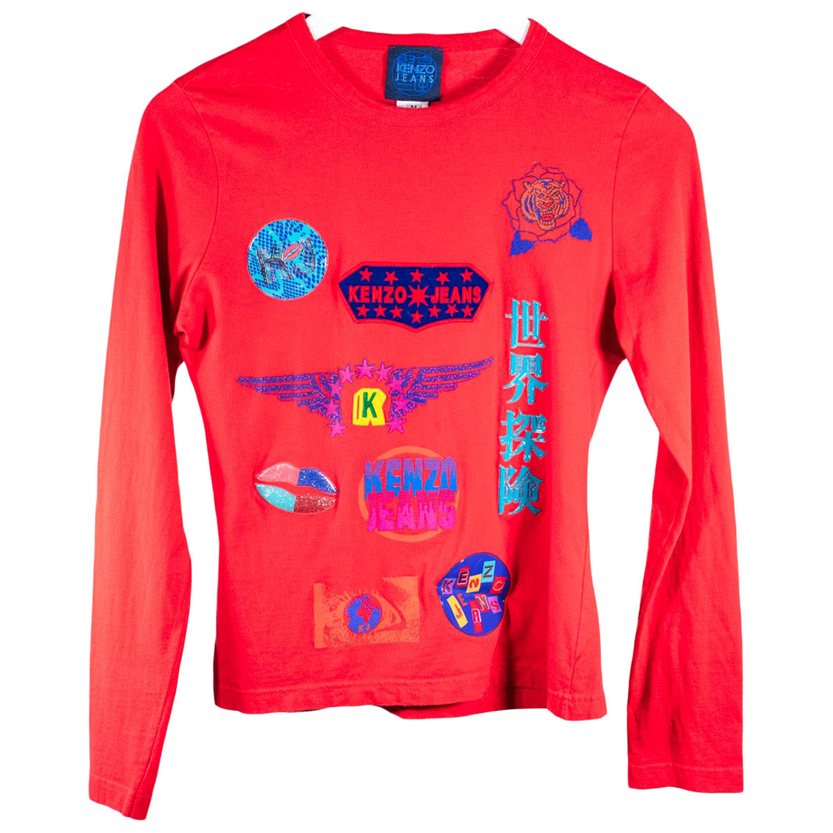 Kenzo N Red Cotton  top for Women 38 FR