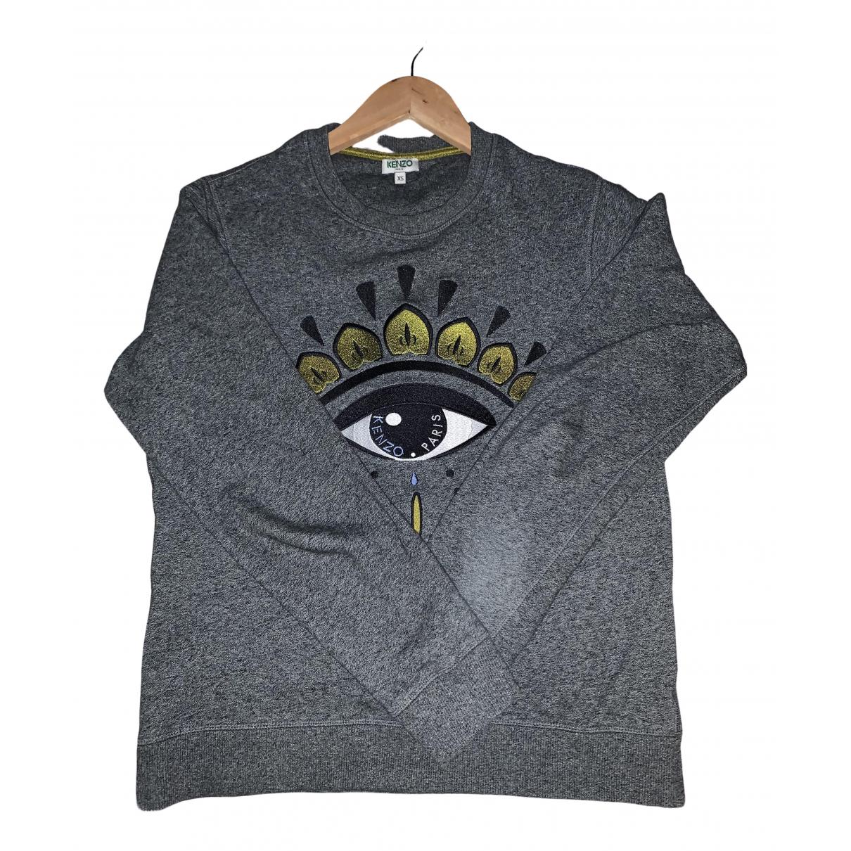 Kenzo \N Pullover.Westen.Sweatshirts  in  Grau Baumwolle