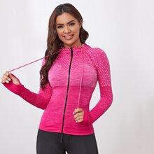 Sports Jacke mit Space Dye und Reissverschluss & Daumenloch