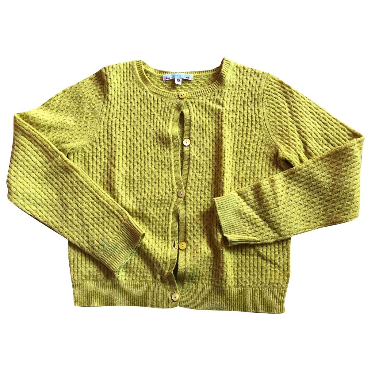 Bonpoint - Pull   pour enfant en laine - jaune