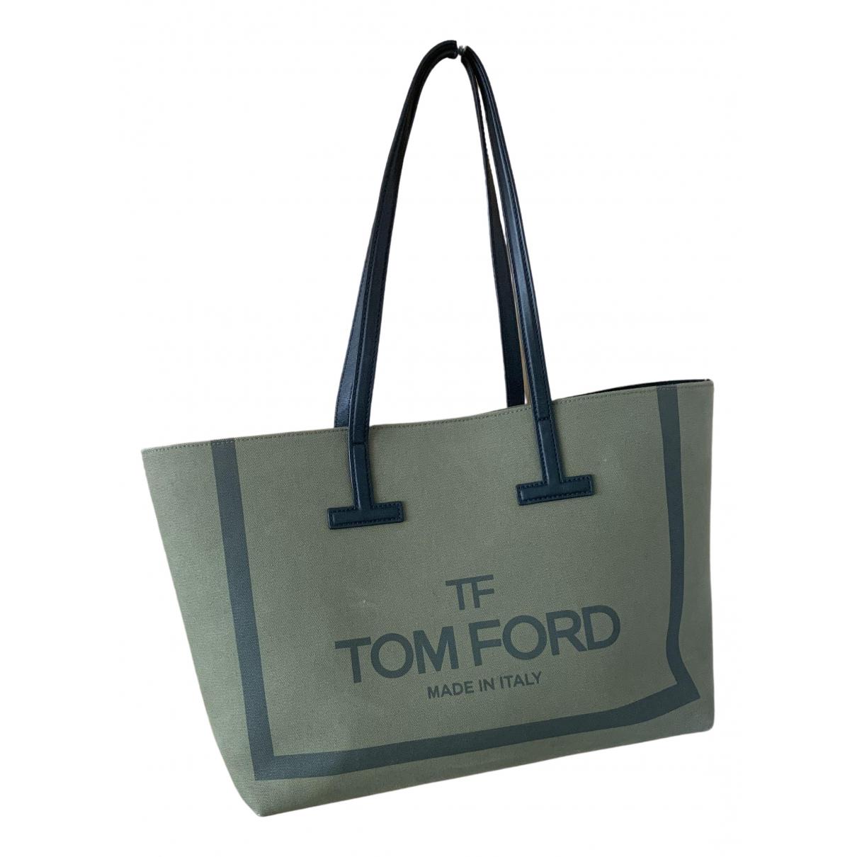 Tom Ford \N Handtasche in  Khaki Leinen