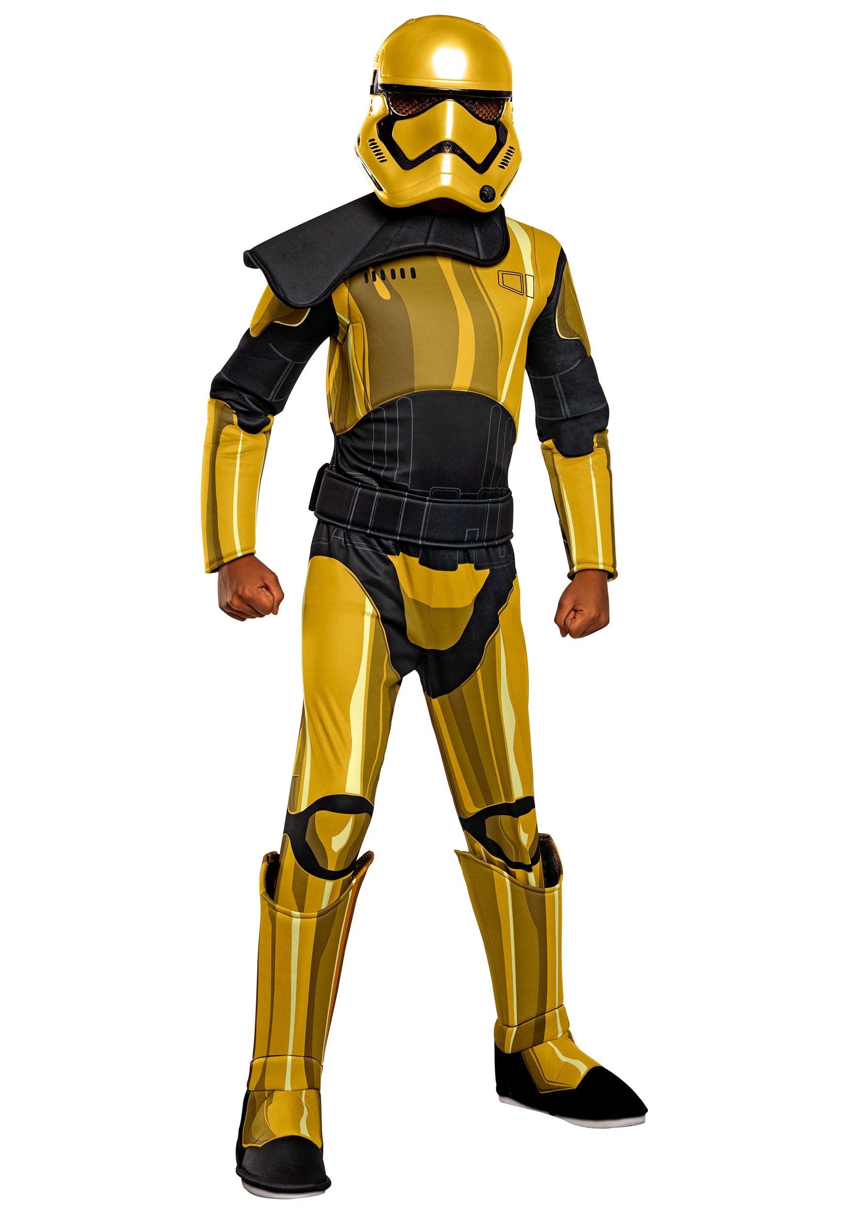 Star Wars Golden Stormtrooper Commander Pyre Deluxe Costume for Kids