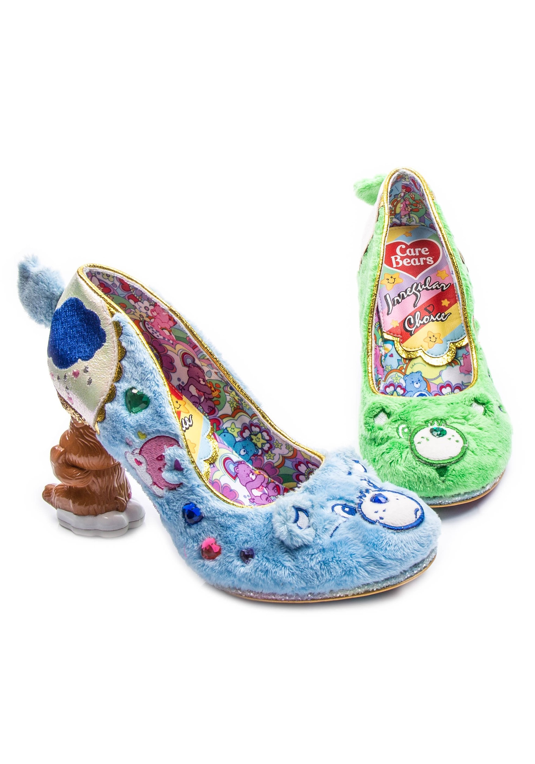 Care Bears Irregular Choice Grin & Share It Green/Blue Heels