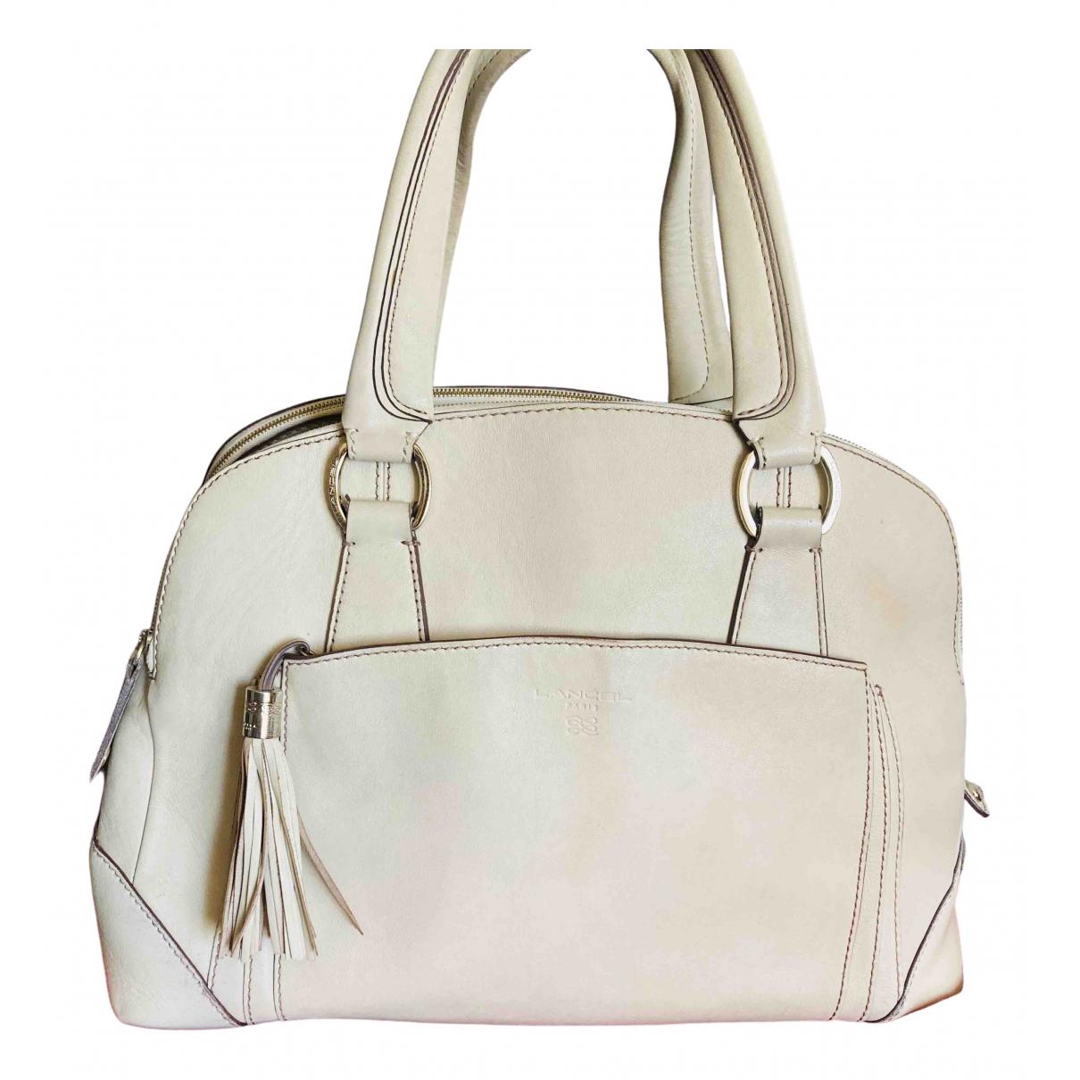 Lancel Mademoiselle Adjani Handtasche in  Ecru Leder