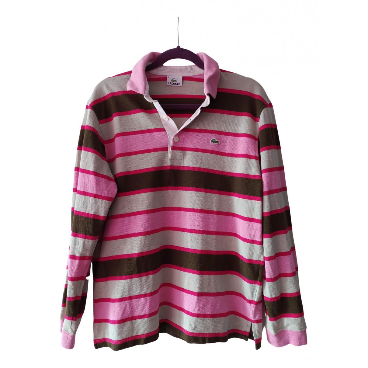 Lacoste - Polos   pour homme en coton - rose