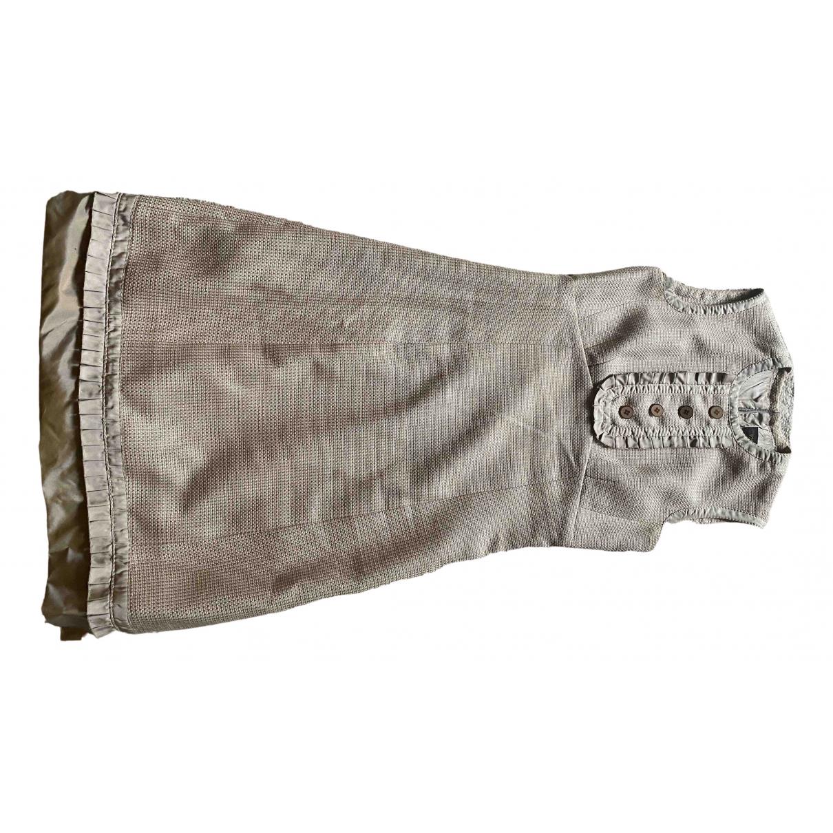 Louis Vuitton \N Kleid in  Beige Viskose
