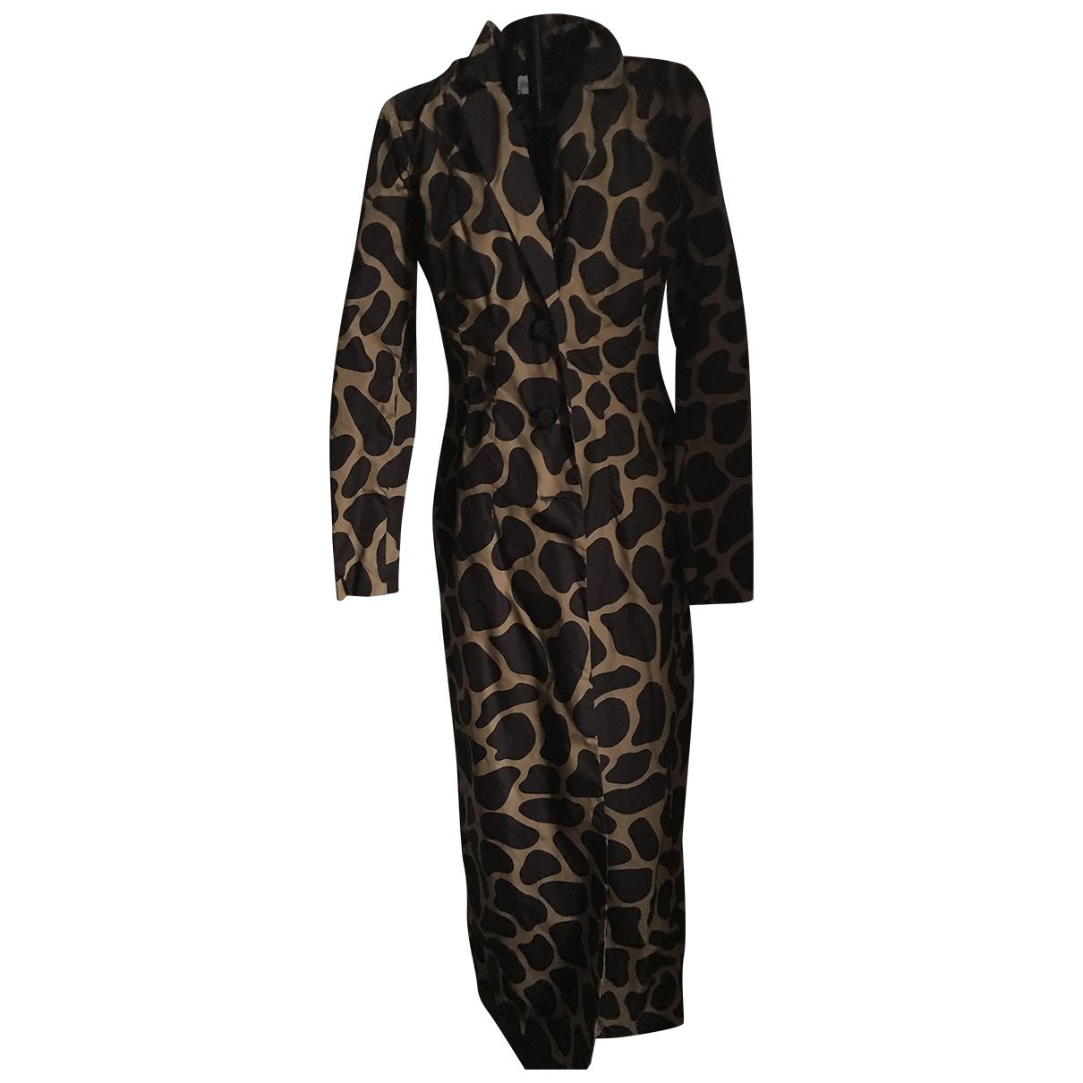 Dolce & Gabbana - Trench   pour femme en soie - marron