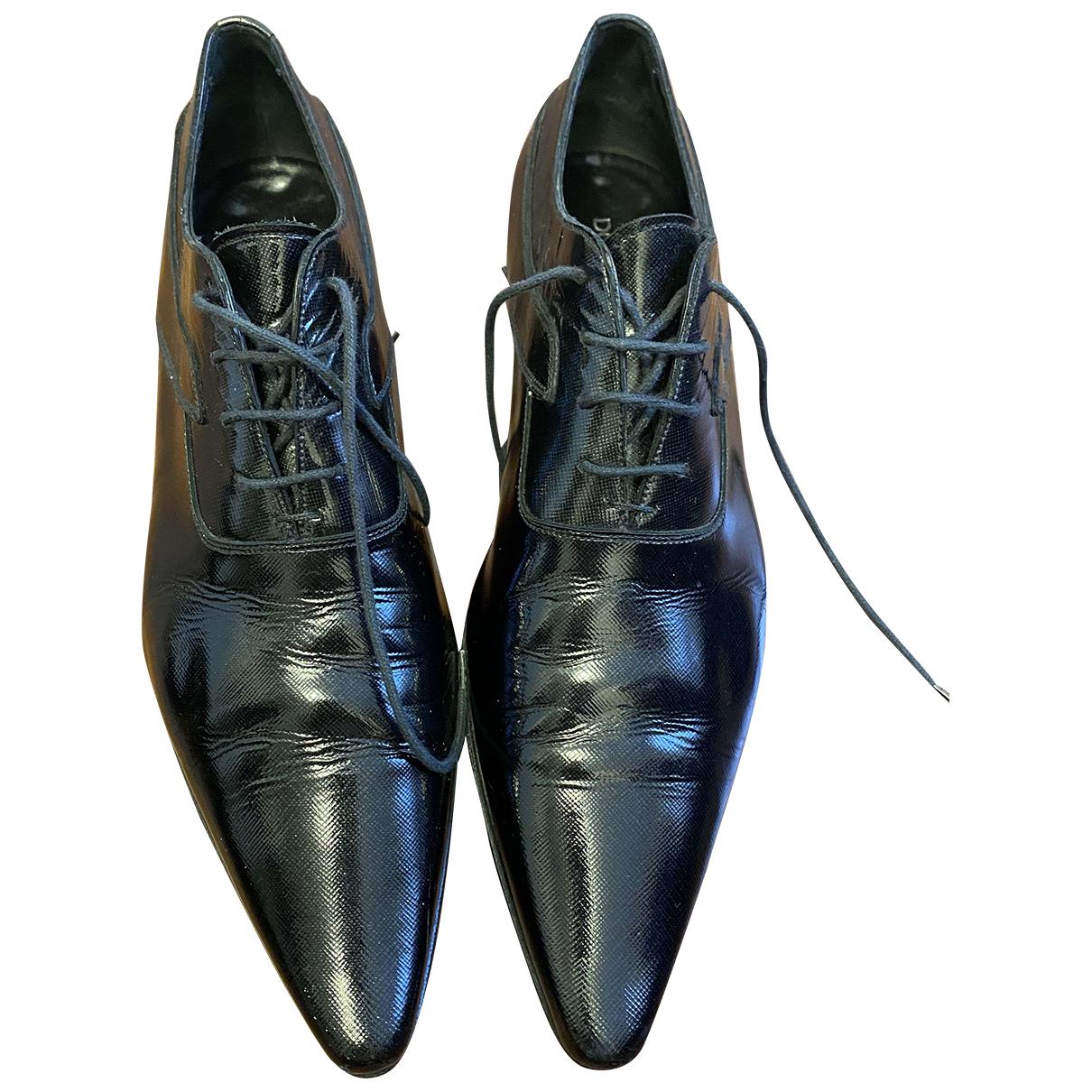 Dolce & Gabbana \N Schnuerschuhe in  Schwarz Lackleder
