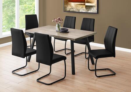 I 1137 Dining Table - 36X 60 Dark Taupe Black