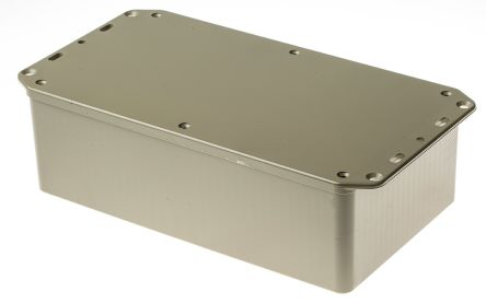 RS PRO Grey ABS Enclosure, IP54, Flanged, 210 x 112 x 61mm