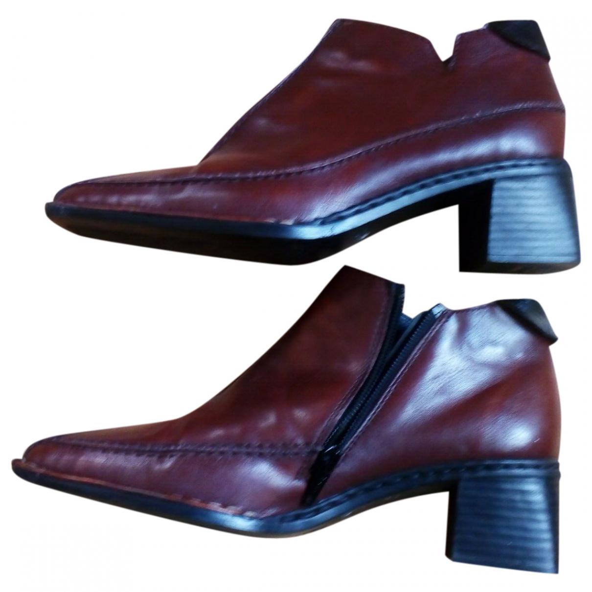 - Boots   pour femme - marron