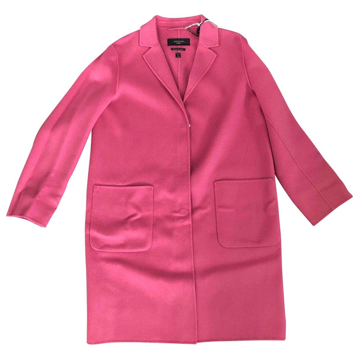 Max Mara Weekend - Manteau   pour femme en laine - rose
