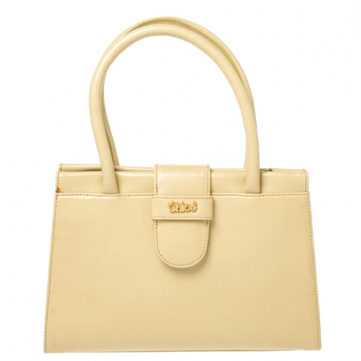 Chloe \N Handtasche in  Gelb Leder