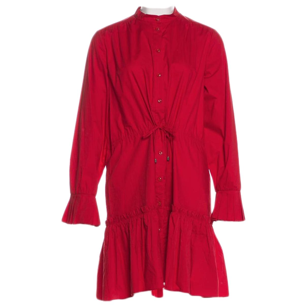 Saloni \N Kleid in  Rot Baumwolle - Elasthan