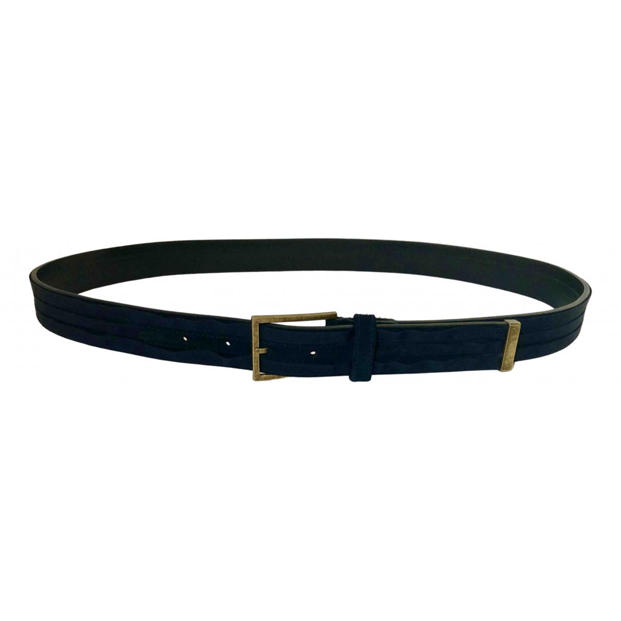Lanvin \N Navy Leather belt for Men 95 cm