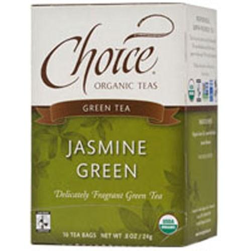 Organic Green Tea Jasmine 16 BAGS by Choice Organic Teas