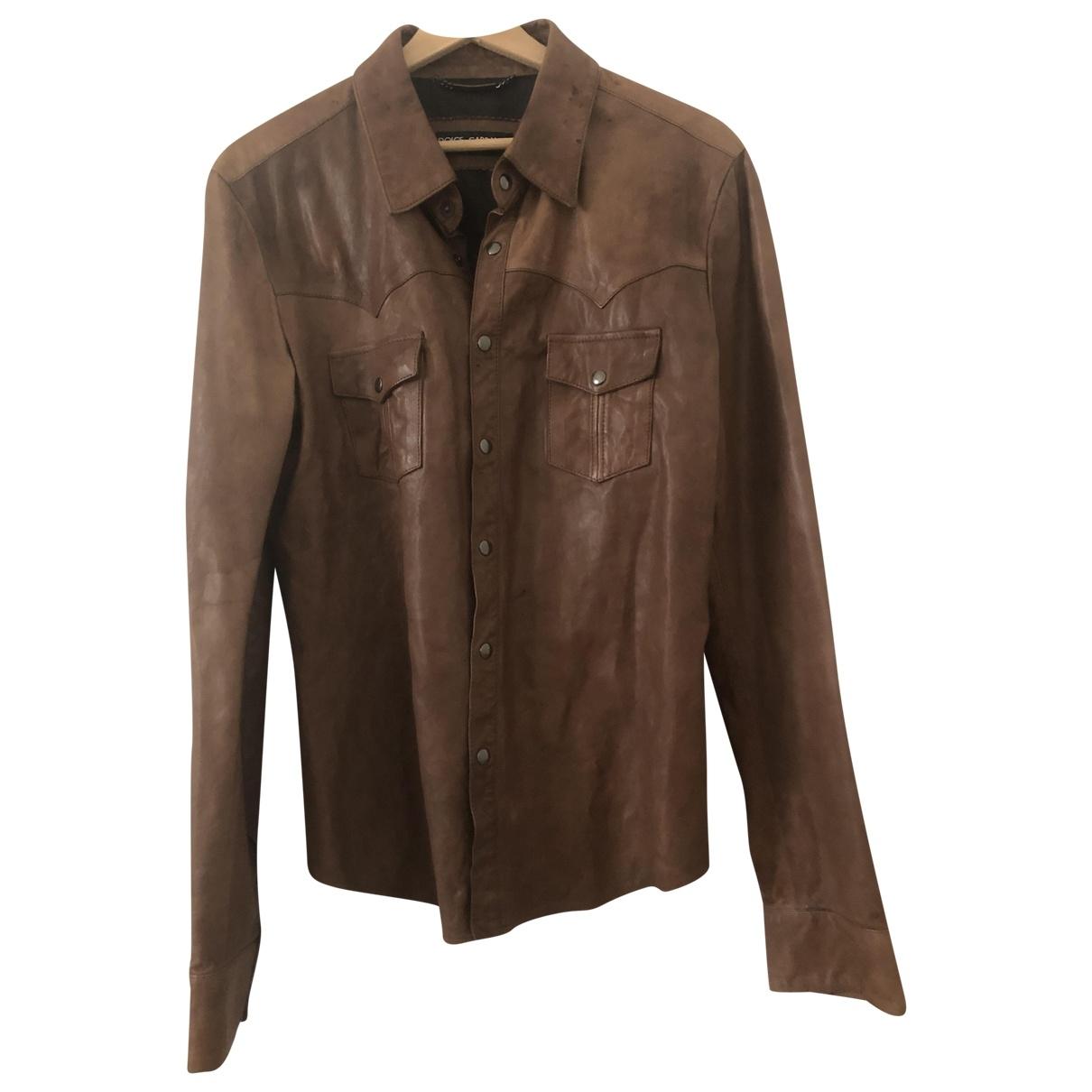 Dolce & Gabbana \N Hemden in  Braun Leder