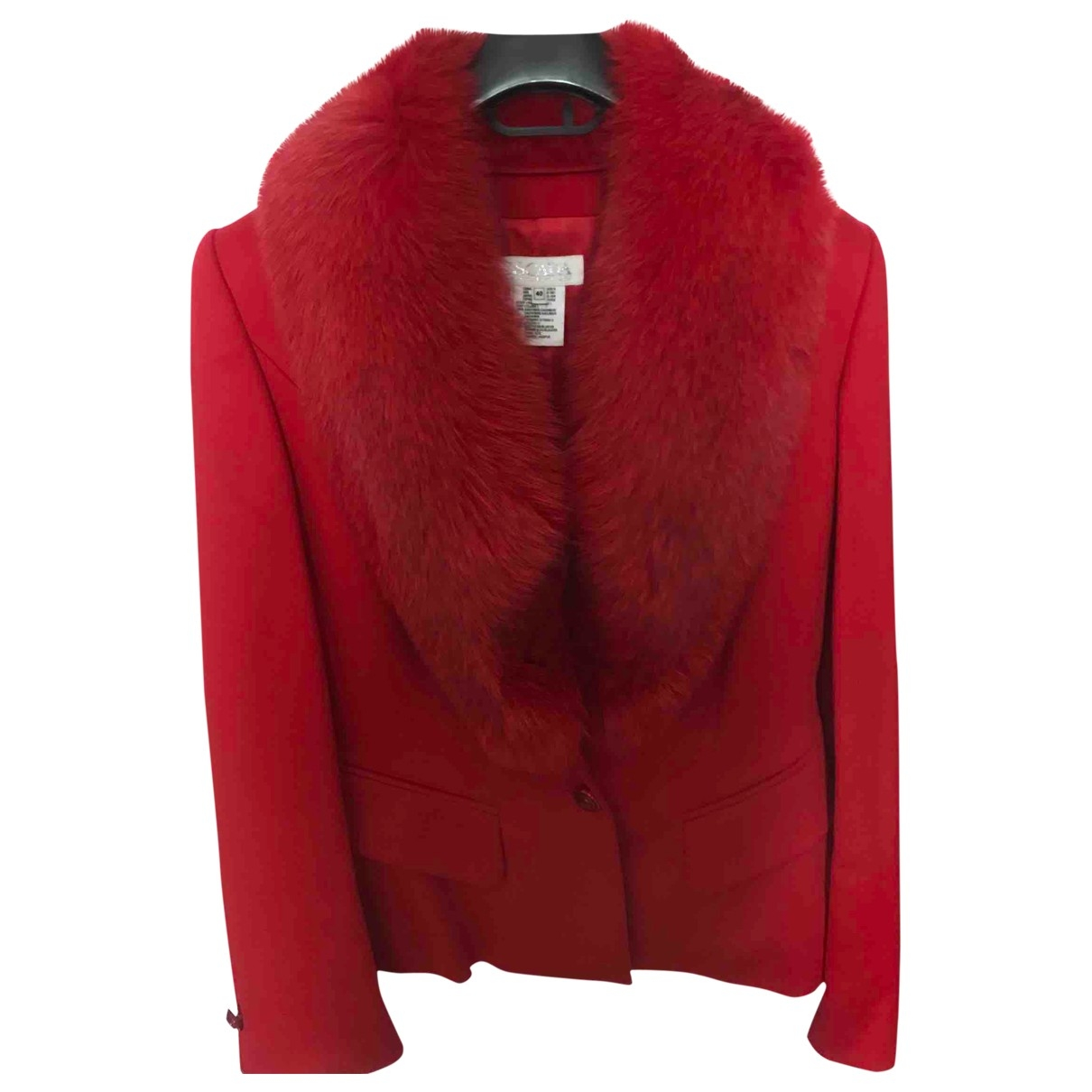 Escada \N Red Cashmere jacket for Women 42 IT