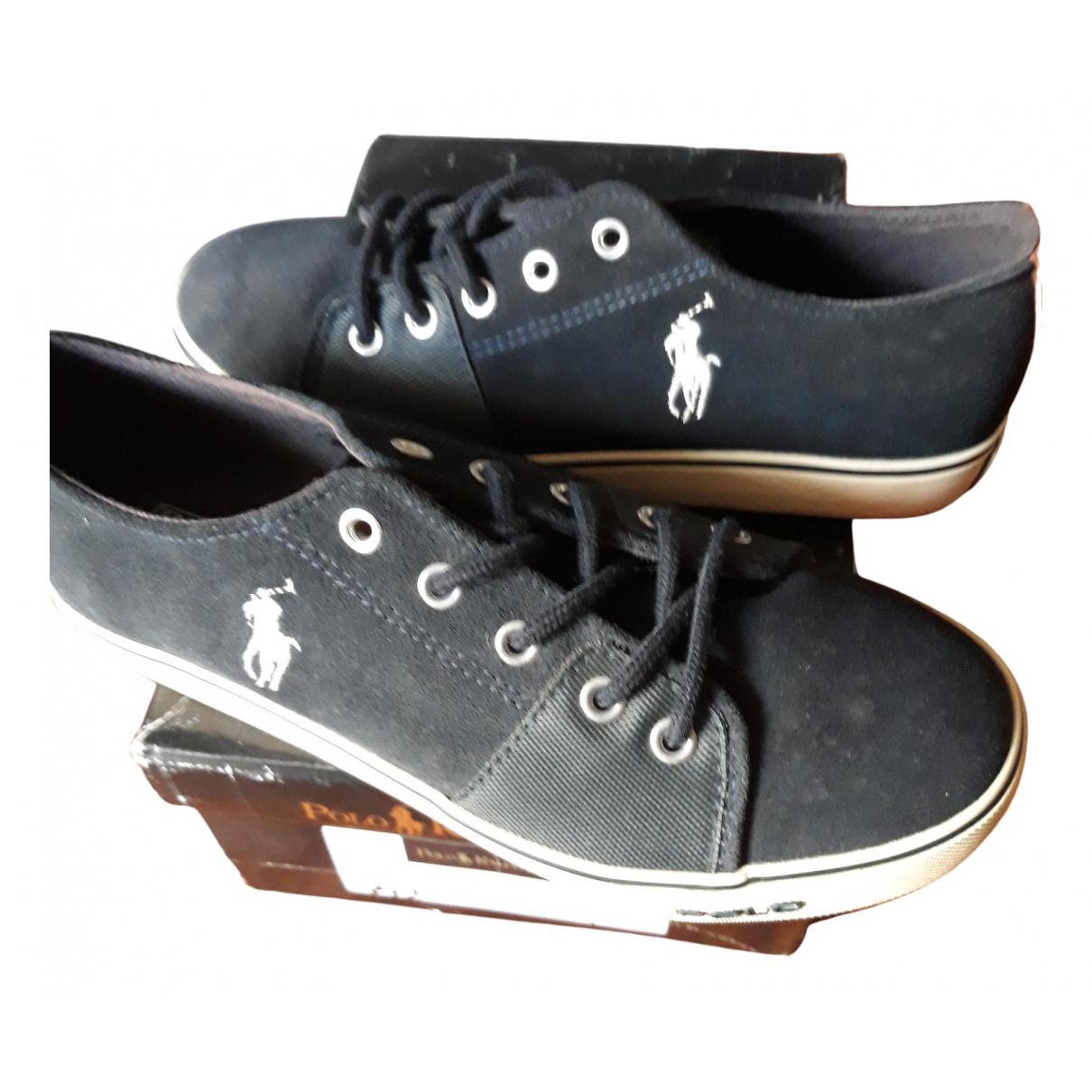 Polo Ralph Lauren \N Sneakers in  Blau Leinen
