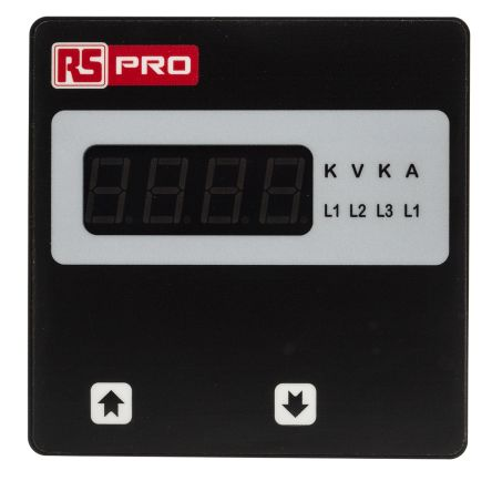 RS PRO Digital Ammeter AC, LED Display 4-Digits ±0.5% + 1 Digit