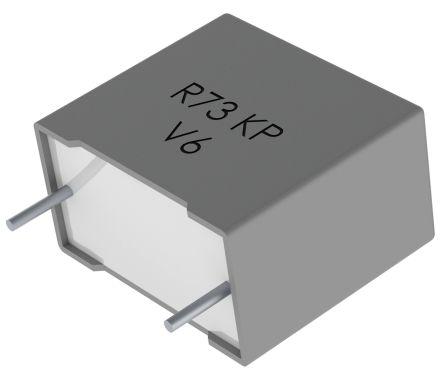 KEMET 2.2nF Polypropylene Capacitor PP 2 kV dc, 500 V ac ±5% Tolerance Through Hole R73 Series (5)