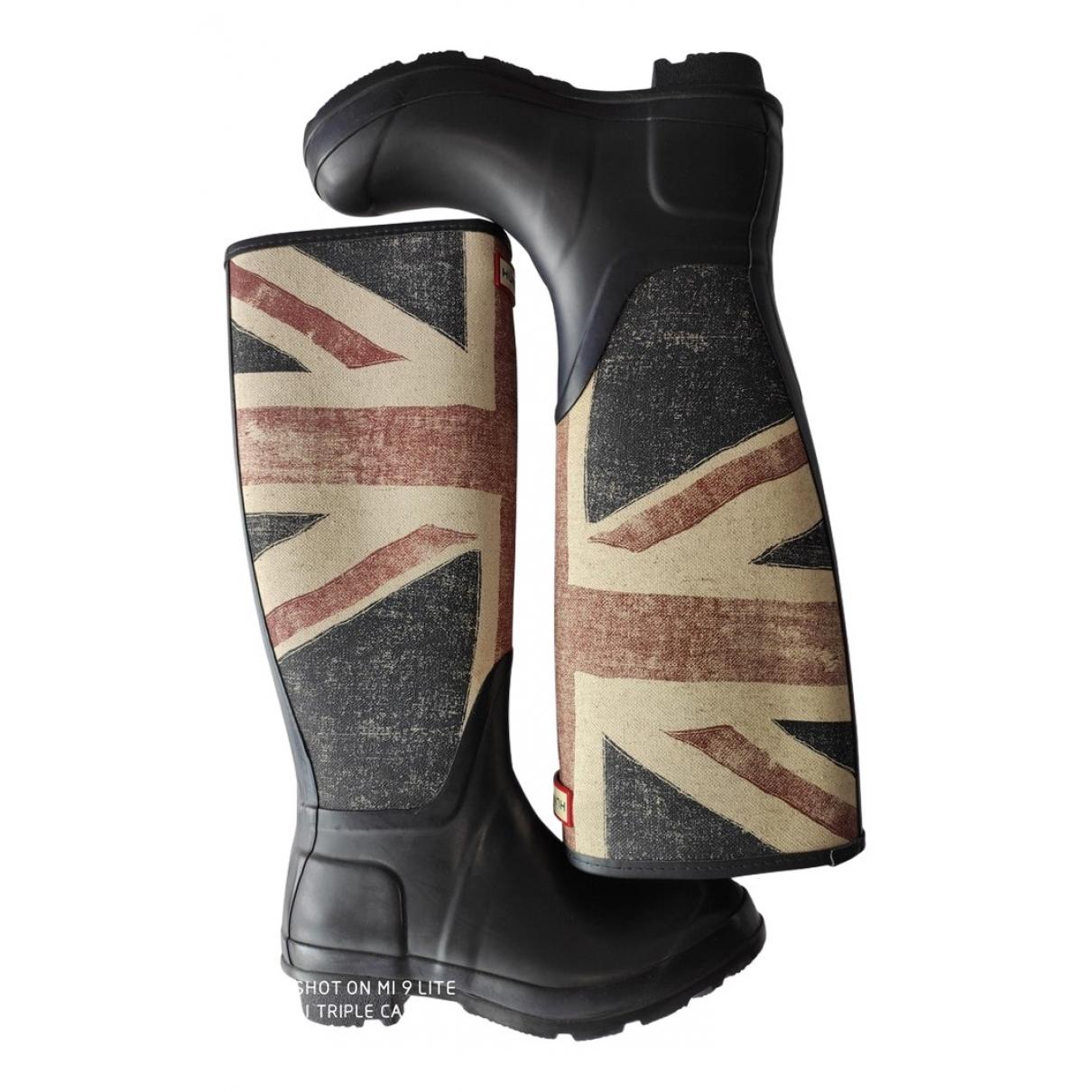 Hunter \N Blue Rubber Boots for Women 37 EU