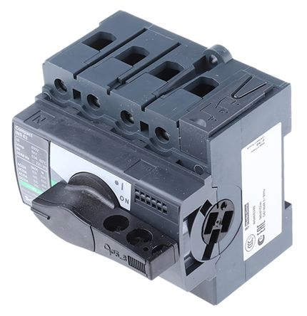 Merlin Gerin 4 Pole DIN Rail Non Fused Isolator Switch - 63 A Maximum Current, 30 kW Power Rating, IP40