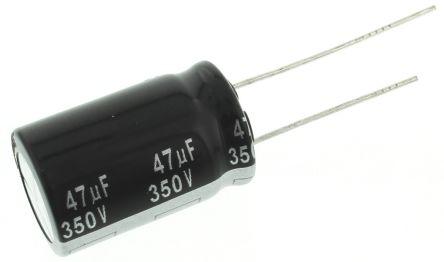 Panasonic 47μF Electrolytic Capacitor 350V dc, Through Hole - EEUED2V470 (5)