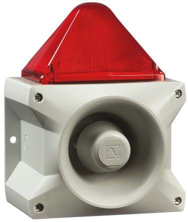 Pfannenberg PA X 10-10 Sounder Beacon 110dB, Red Xenon, 230 V ac