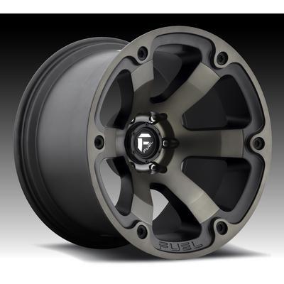 MHT Fuel Offroad D564 Beast, 20x9 Wheel with 5 on 5 Bolt Pattern - Black Machined Dark Tint - D56420907350