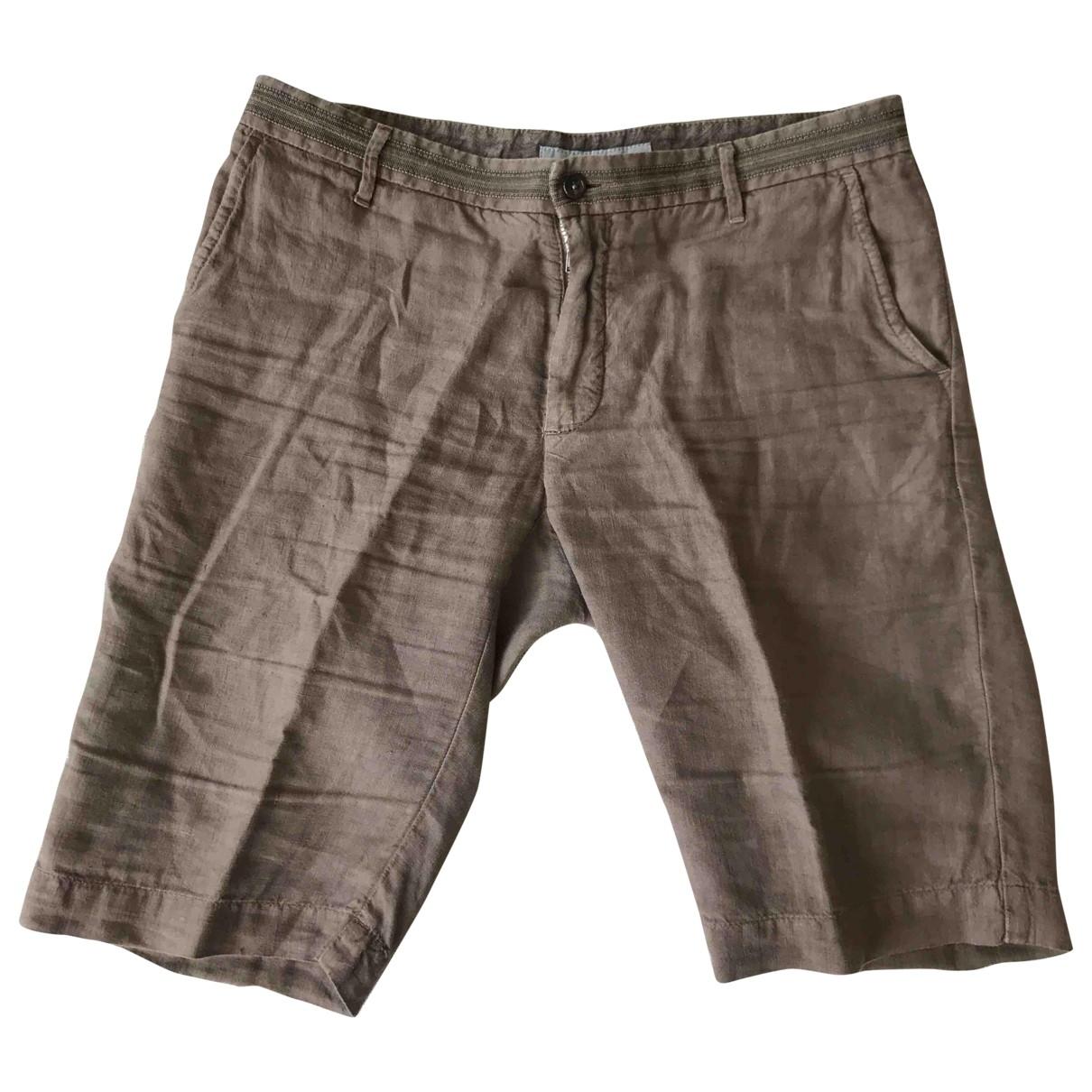 Etro \N Shorts in  Braun Leinen