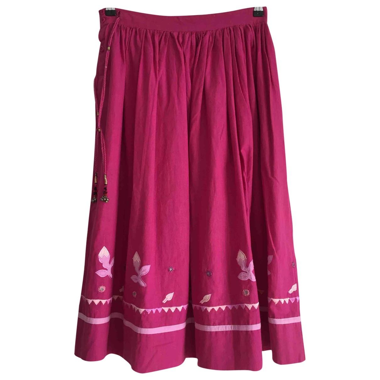 - Jupe Hippie Chic pour femme en coton - rose