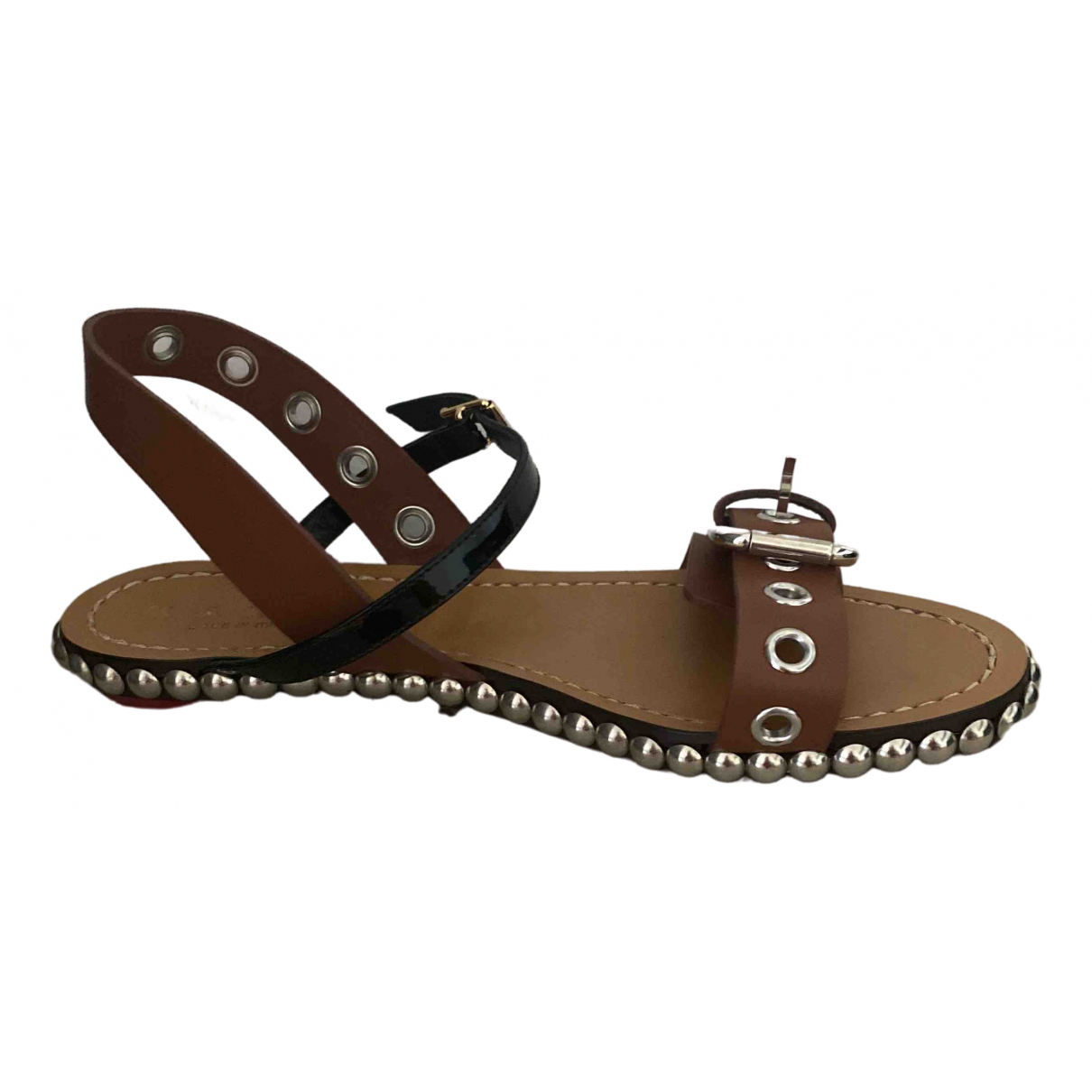 Marni \N Brown Leather Sandals for Women 38 EU
