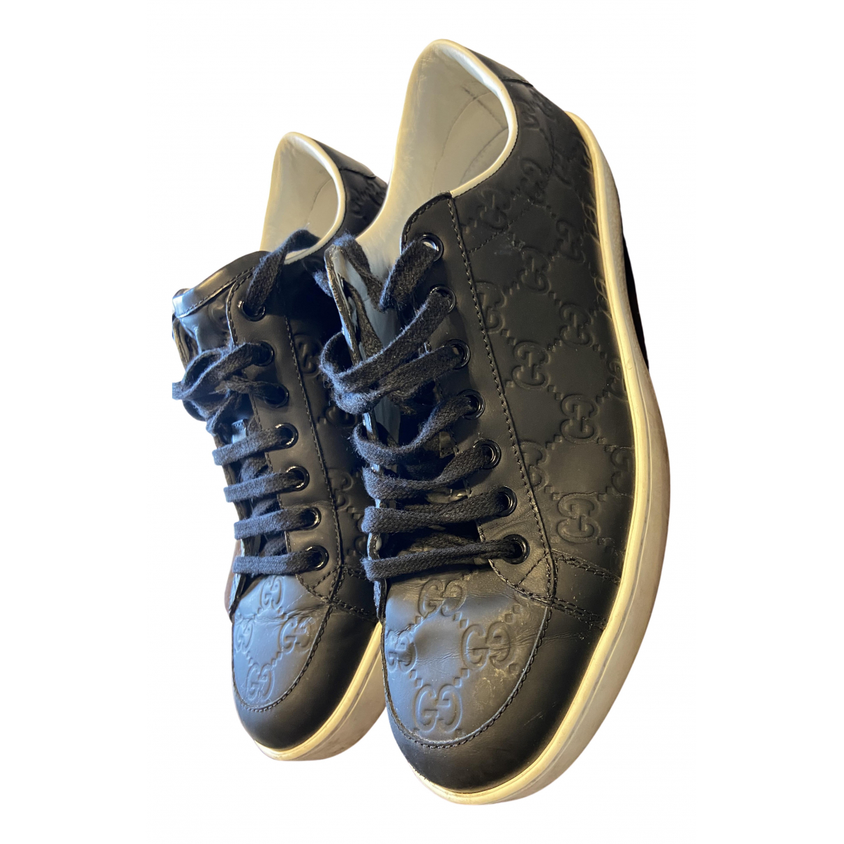 Gucci \N Blue Leather Trainers for Men 39.5 EU