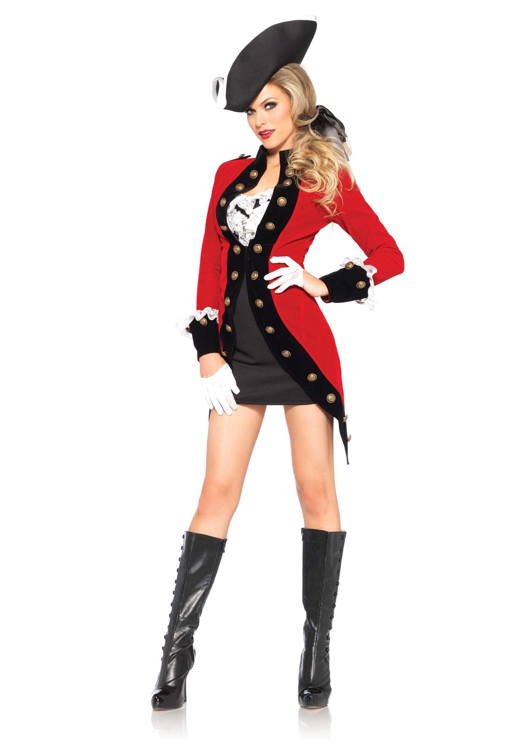 Rebel Red Coat Women's Costume