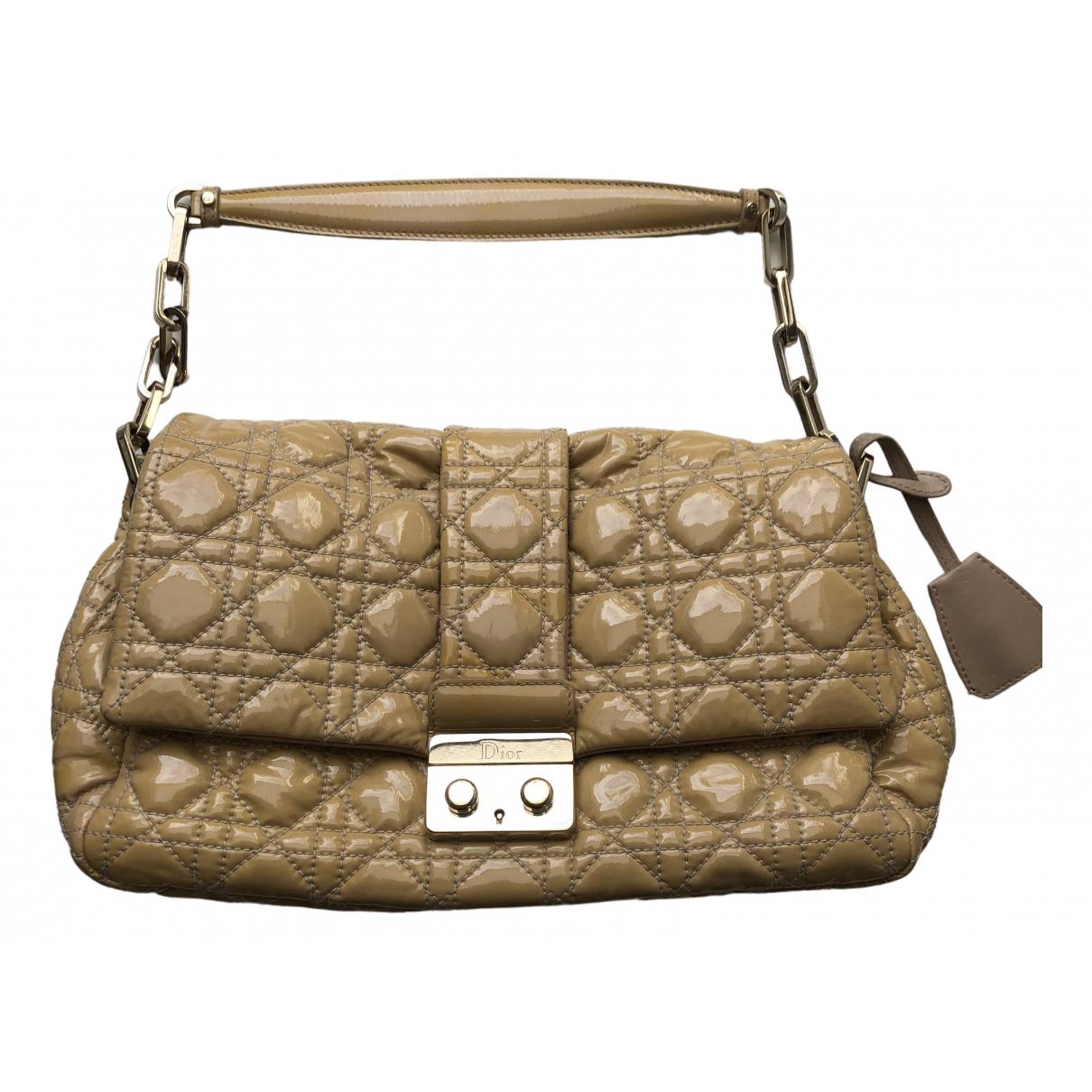 Dior New Lock  Beige Patent leather handbag for Women \N