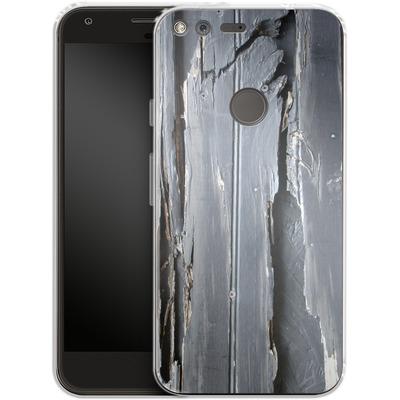 Google Pixel XL Silikon Handyhuelle - Wood Black Fence von Brent Williams