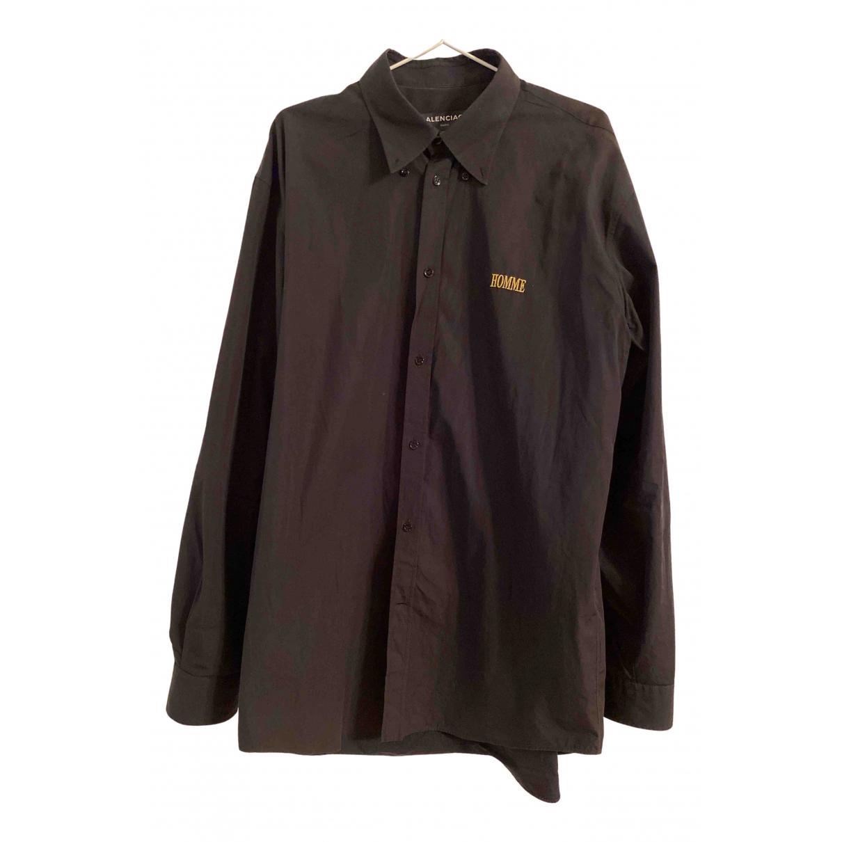 Balenciaga N Black Cotton Shirts for Men 41 EU (tour de cou / collar)