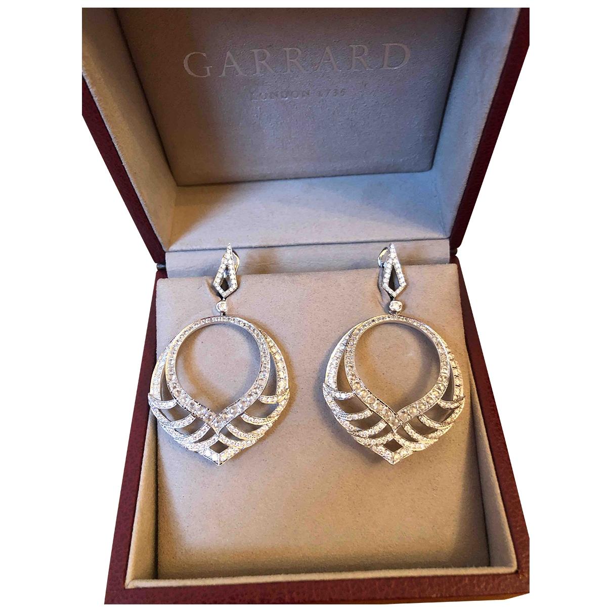 Garrard \N Silver White gold Earrings for Women \N