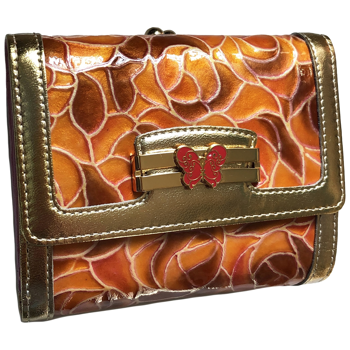 Anna Sui \N Portemonnaie in  Orange Lackleder