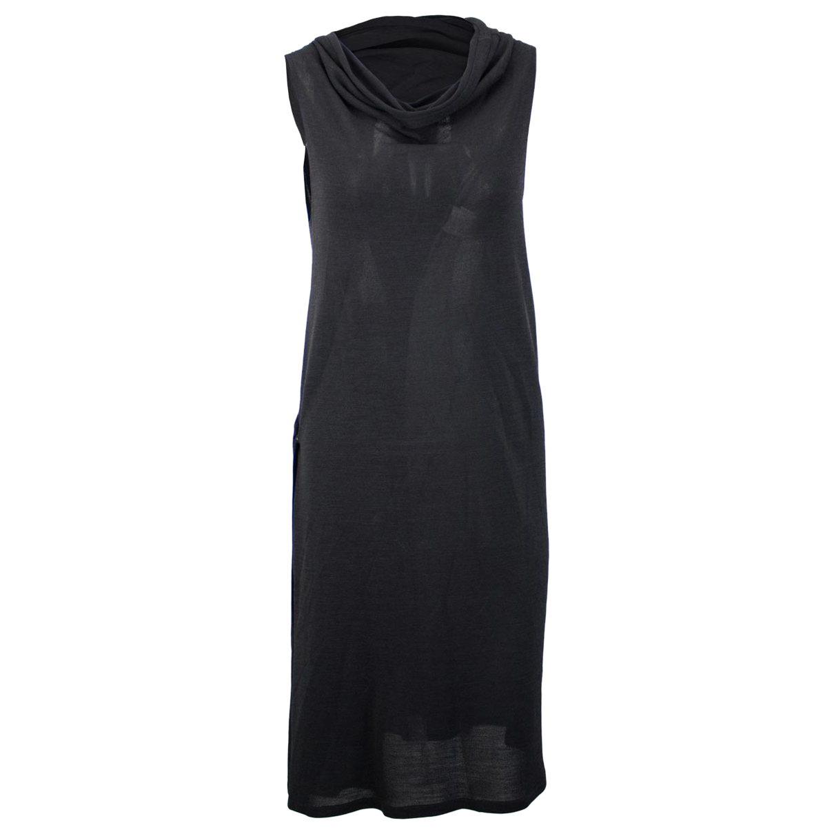 Ann Demeulemeester \N Kleid in  Schwarz Synthetik