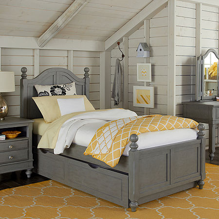 Lake House Payton Arch Bed with Trundle, One Size , Gray