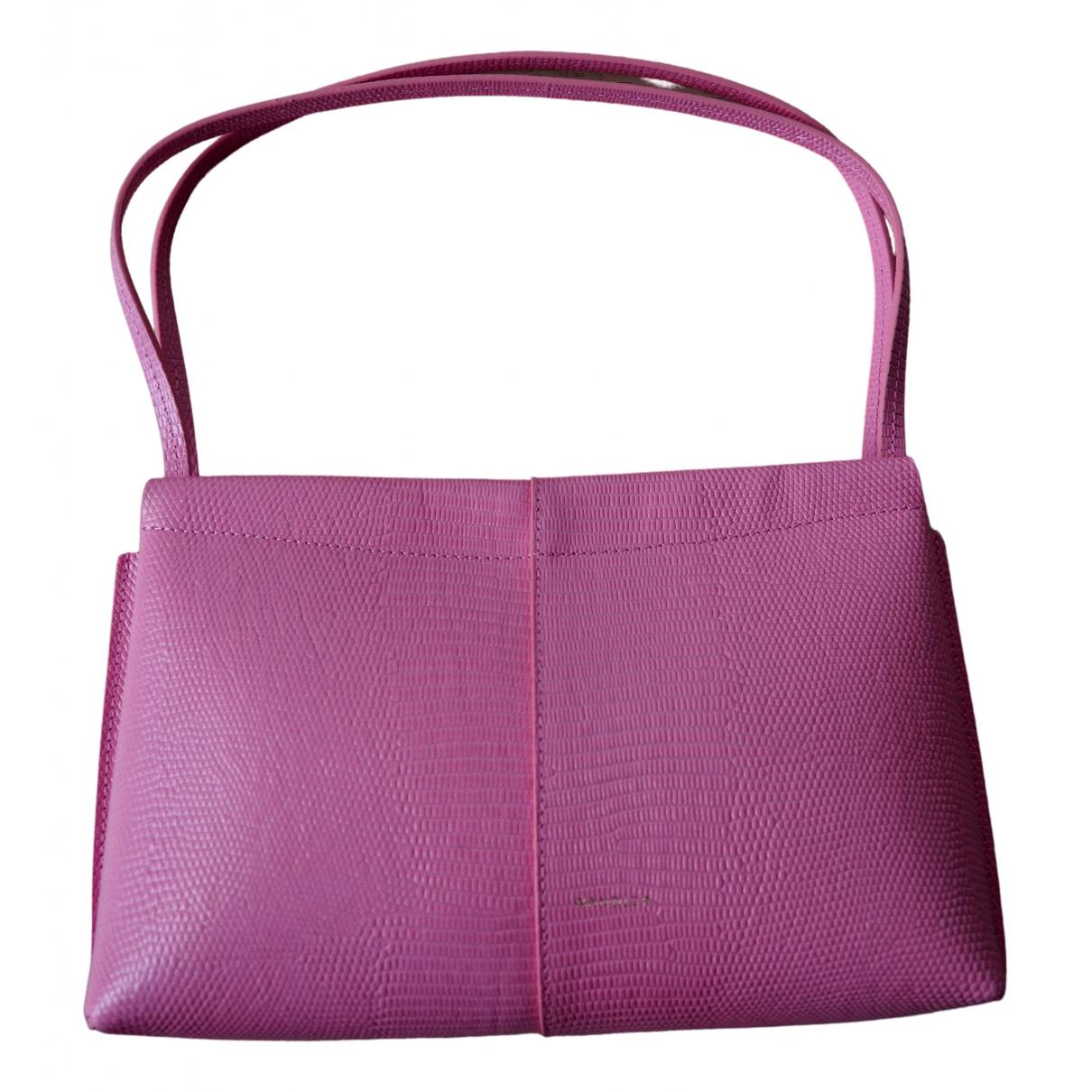 Wandler \N Handtasche in  Rosa Leder