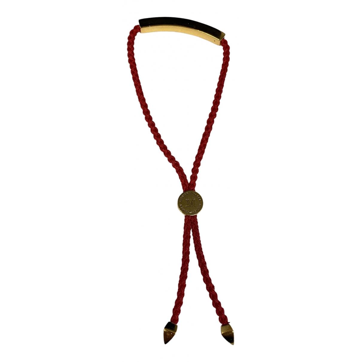 Monica Vinader - Bracelet   pour femme en vermeil - rouge
