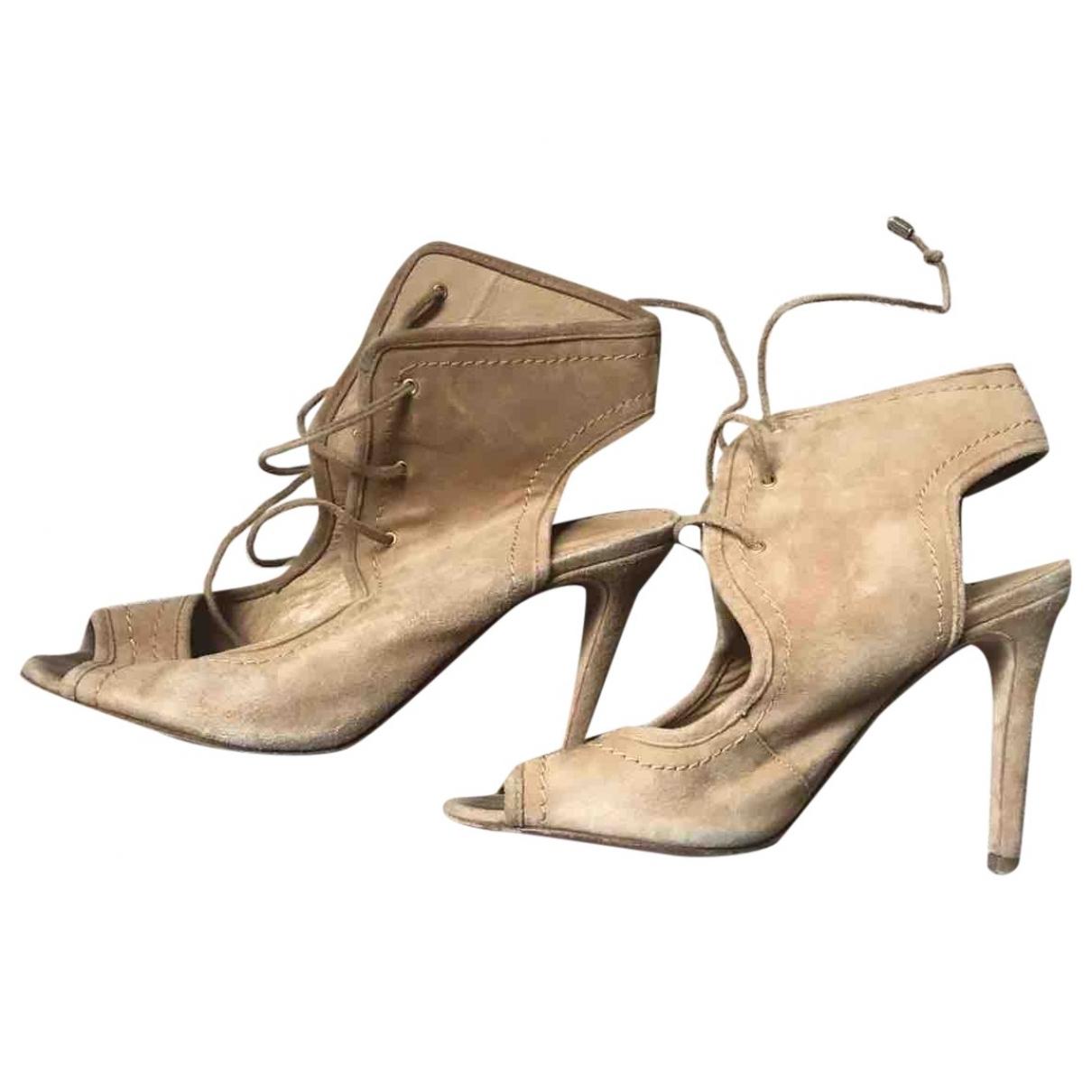 Carolina Herrera - Sandales   pour femme en suede - beige