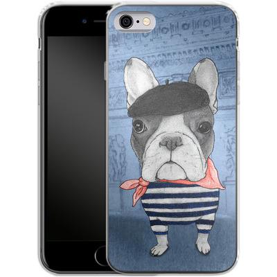 Apple iPhone 6s Silikon Handyhuelle - French Bulldog with Arc de Triomphe von Barruf