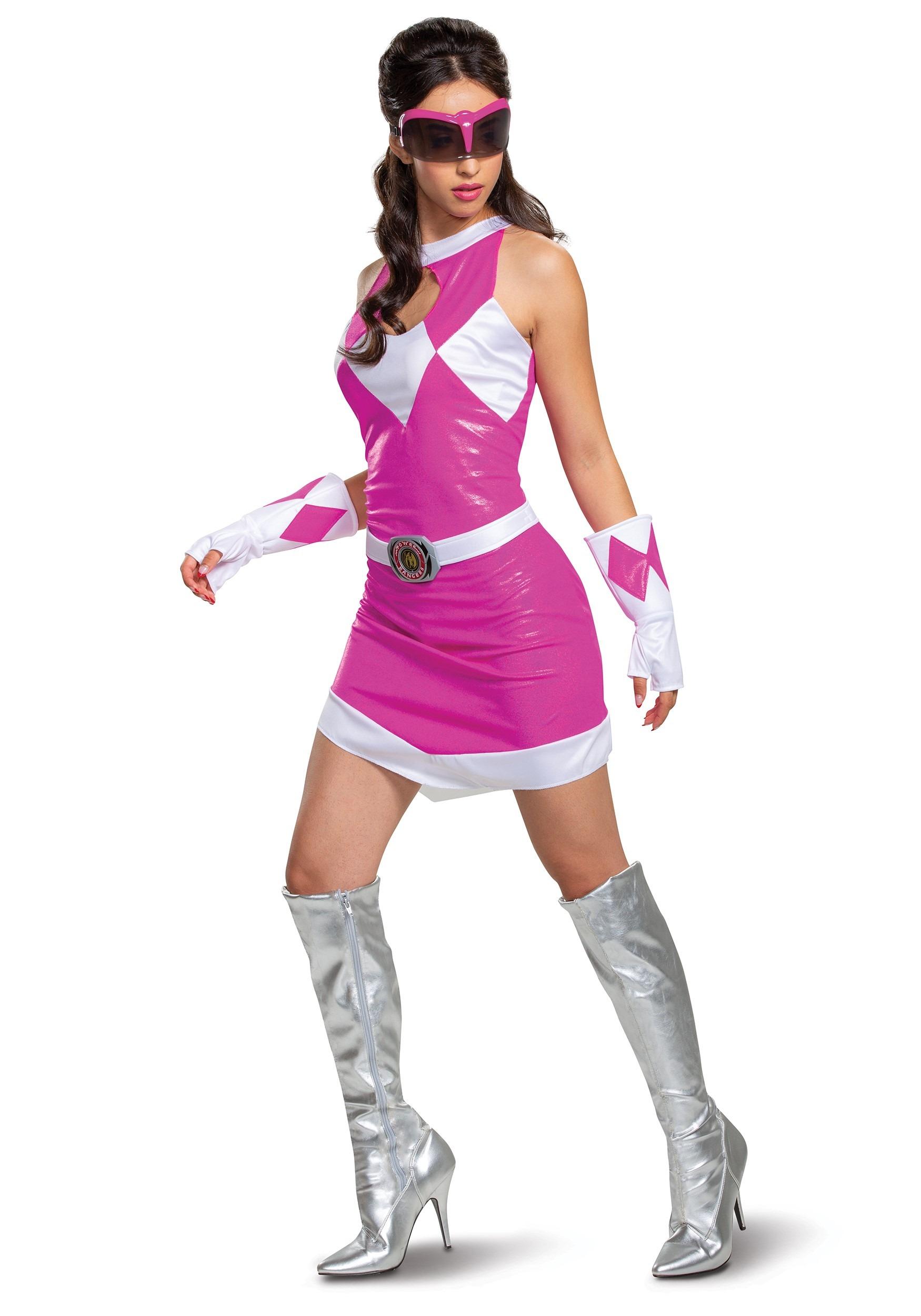 Power Rangers Deluxe Pink Ranger Costume for Women