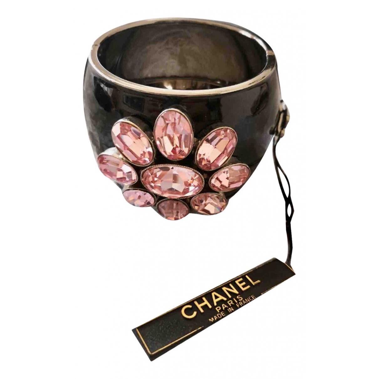 Chanel - Bracelet CC pour femme en metal - rose