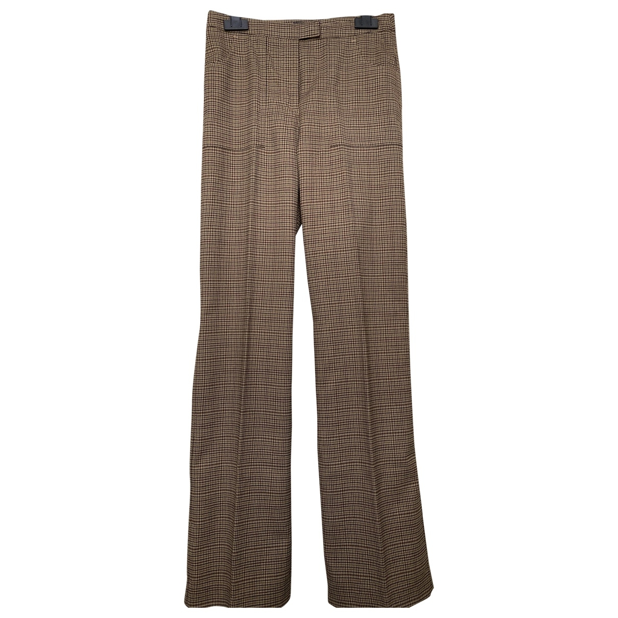 Armani Jeans \N Camel Trousers for Women 6 US