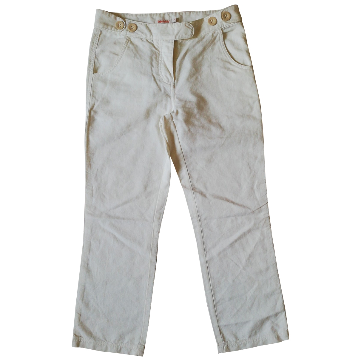 Timberland \N White Linen Trousers for Women 4 0-5